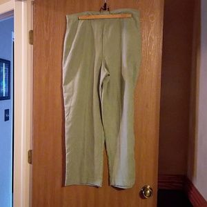 Size 18 Petite Sage Dress Pants by Alfred Dunner